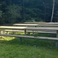Venkovní stoly a lavičky